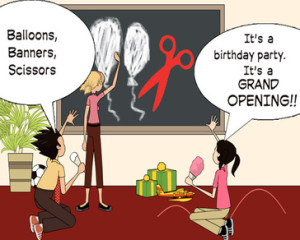 grand opening cartoon