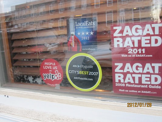 reviews in store window