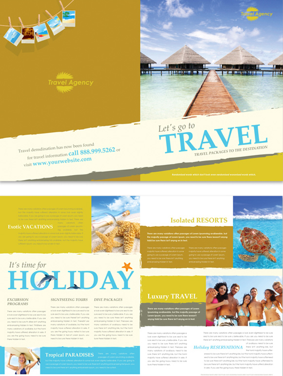 travel agency brochure template brochure templates top 25 free and paid options