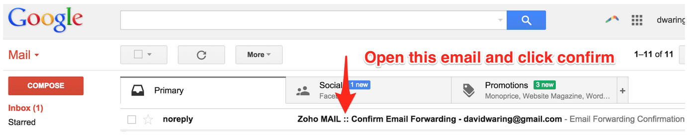 Gmail Confirm Email