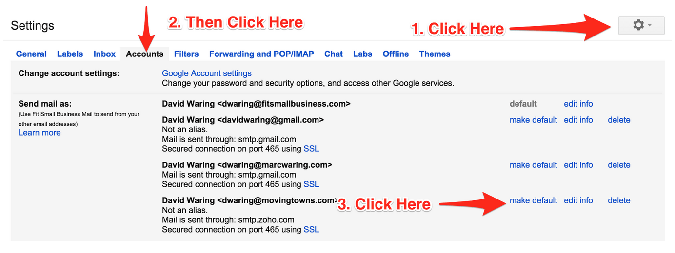 sending email from gmail