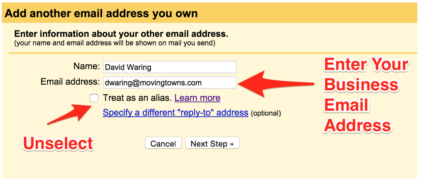 how to get an email address for your business