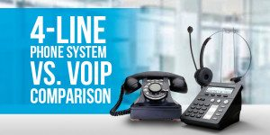 4-Line Phone System vs. VoIP: Which Is Better?