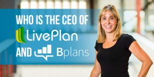 Who is the CEO of LivePlan and Bplans?