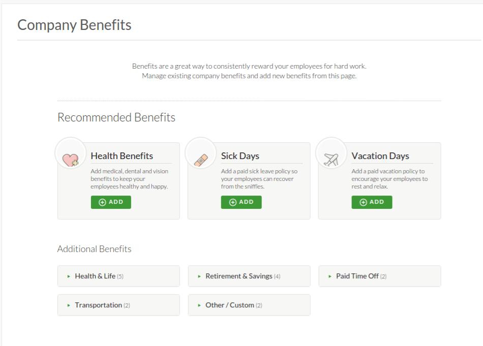 Gusto Benefits