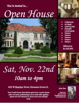 Free open house flyer template click to view download for Free open house flyer template