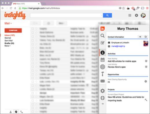 Insightly Gmail Sidebar