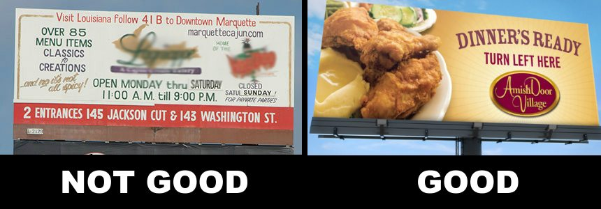Billboard Design Good and Bad