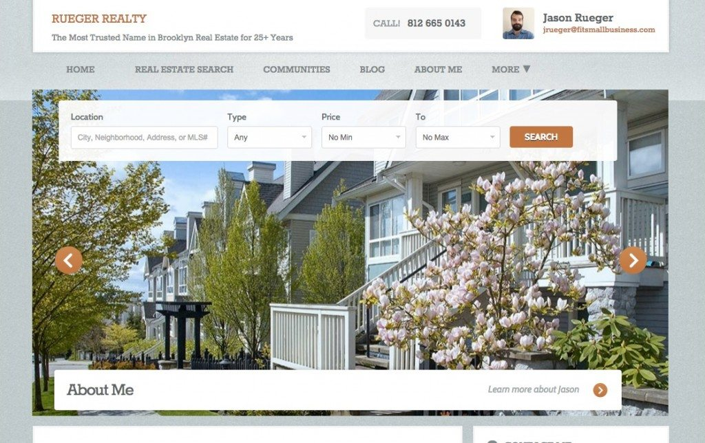 Zillow Real Estate Website Example