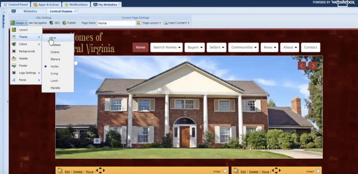 Website Box Real Estate Website Example