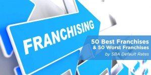 best franchises and worst franchises by SBA default rates