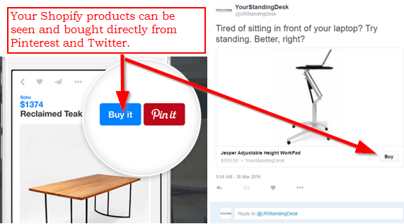 Sell on Twitter and Pinterest with Shopify