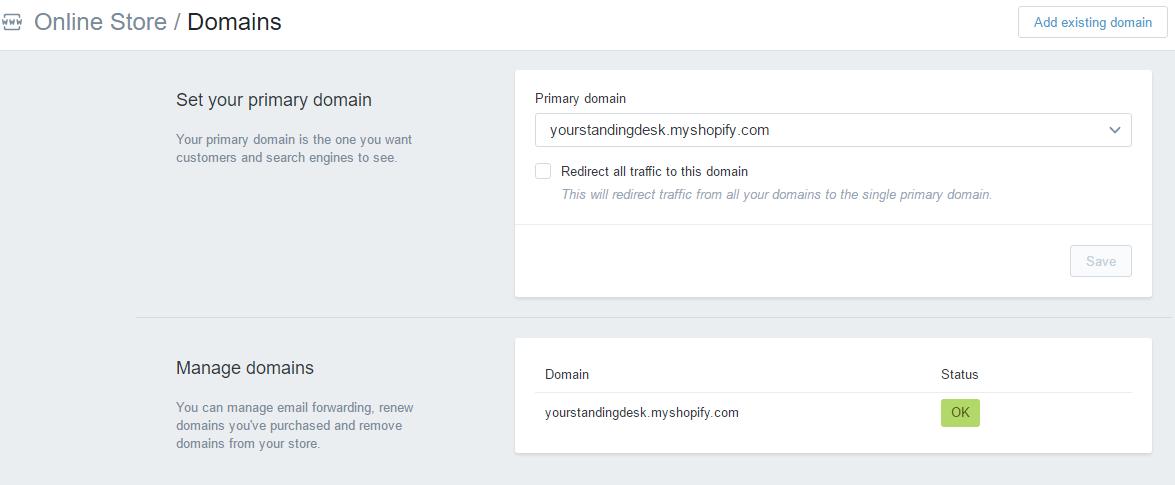 Redirect Traffic from MyShopify