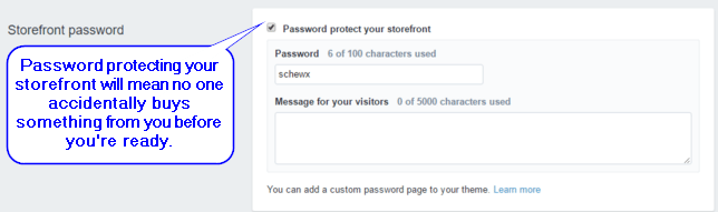 Shopify Online Store Password Protection