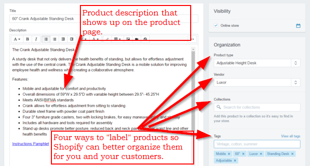 Add Product Details and Organize in Shopify