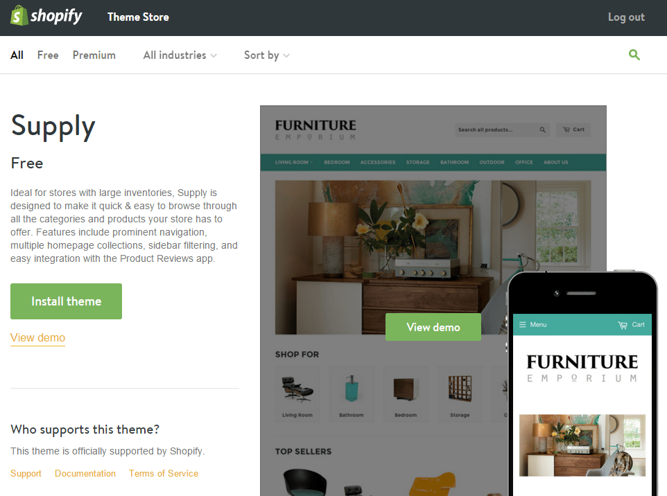 Shopify Theme Supply