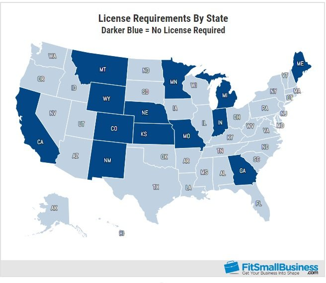 How to become a home inspector by state map