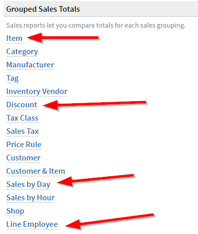 Lightspeed Sales Reports