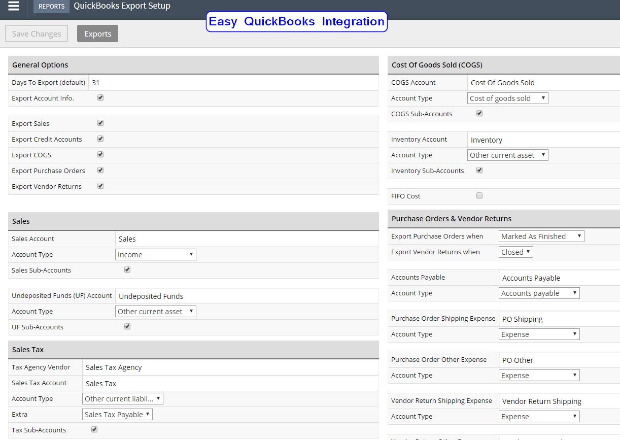 Lightspeed POS Quickbooks Integration