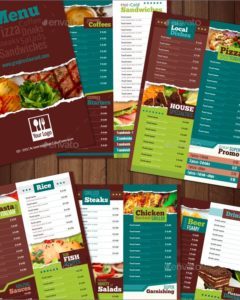 All Purpose and Vegan Food Menu
