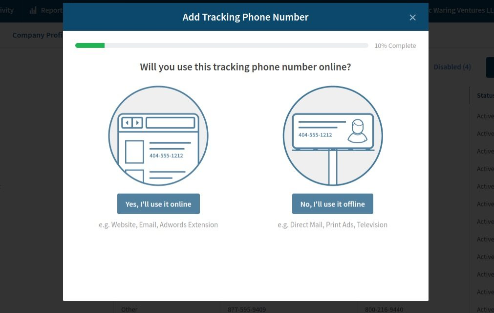 setup call tracking: Call Rail