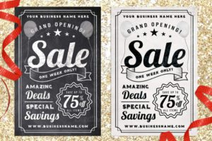 Chalk Sale Postcard