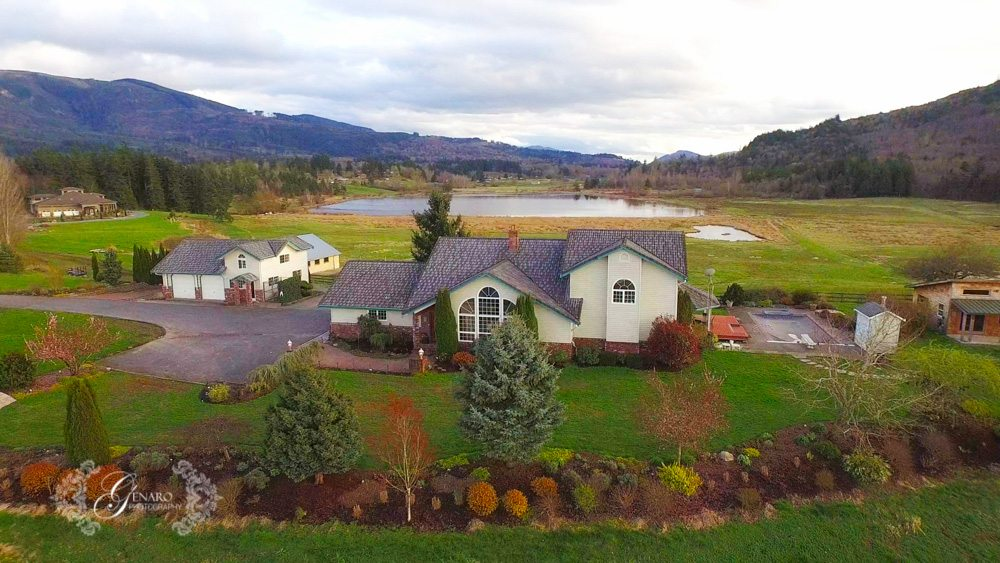 real estate drone photography example