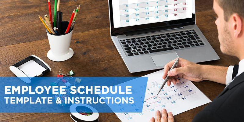Employee Schedule Template Amp Instructions