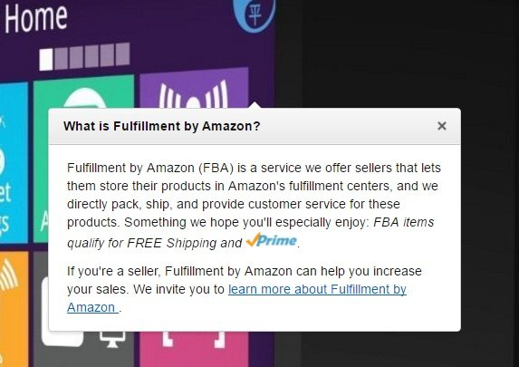 Fulfillment by Amazon Explanation FBA