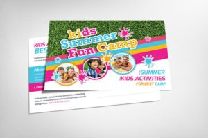 Kid's Summer Camp Postcard