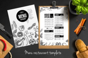 Menu Restaurant Template #4