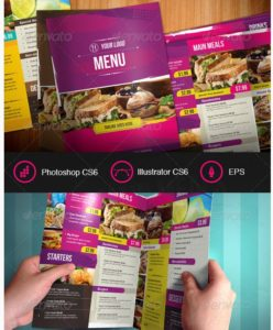 Modern and Distressed Food Menu