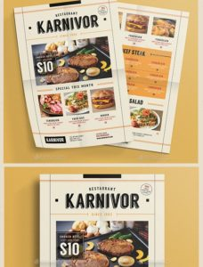 Restaurant Flyer Menu