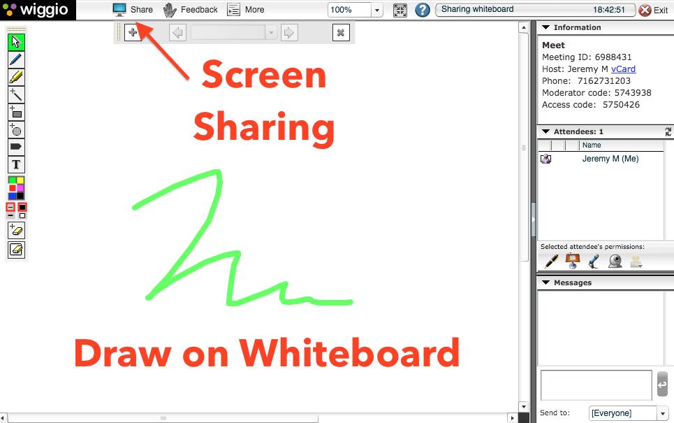 """The Wiggio """"Virtual Meeting"""" dashboard"""