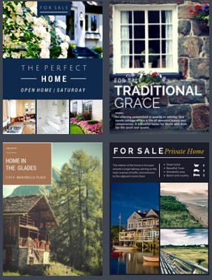 Canva.com Real Estate Brochures