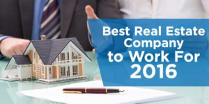 Best Real Estate Company to Work For 2016
