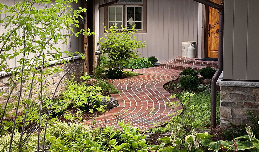 Brick Path Curb Appeal