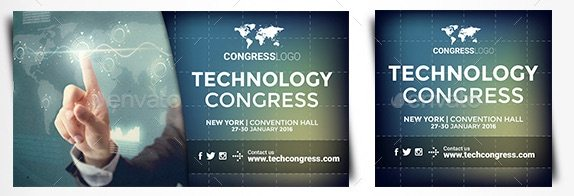 Facebook Banners - Technology Congress by ConectoStudio
