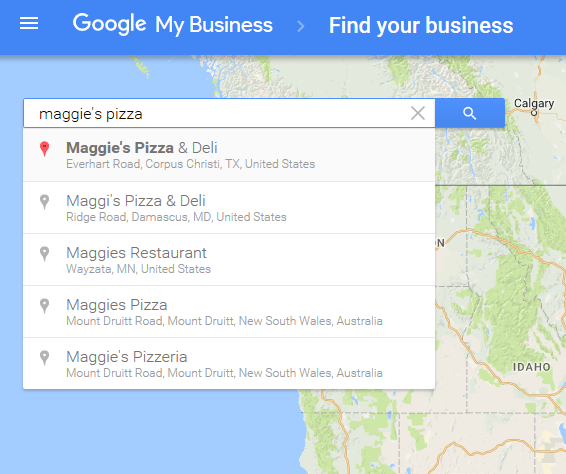 GMB Find Your Business Search