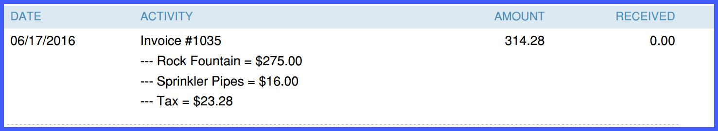 QuickBooks Online Multi Line Transaction Example