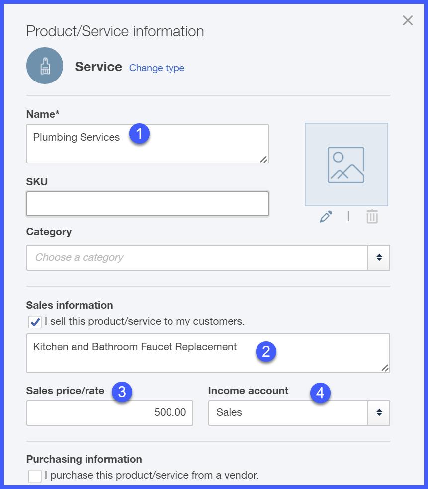 QuickBooks Online Service Setup Window