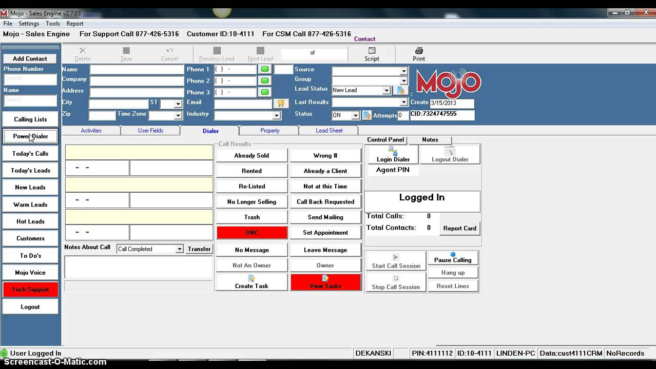 mojo dialer real estate software