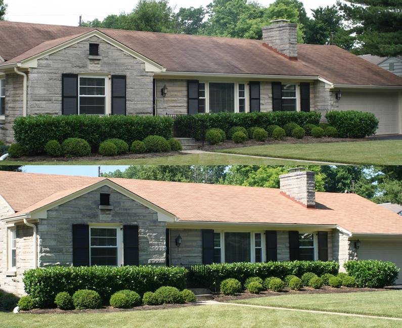 Brick House Exterior Makeover Ranch Remodel