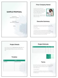 Fit Small Business Free Business Proposal Template