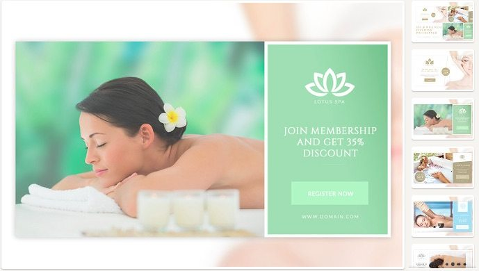 Spa Facebook Ads Post Banners by Micromove