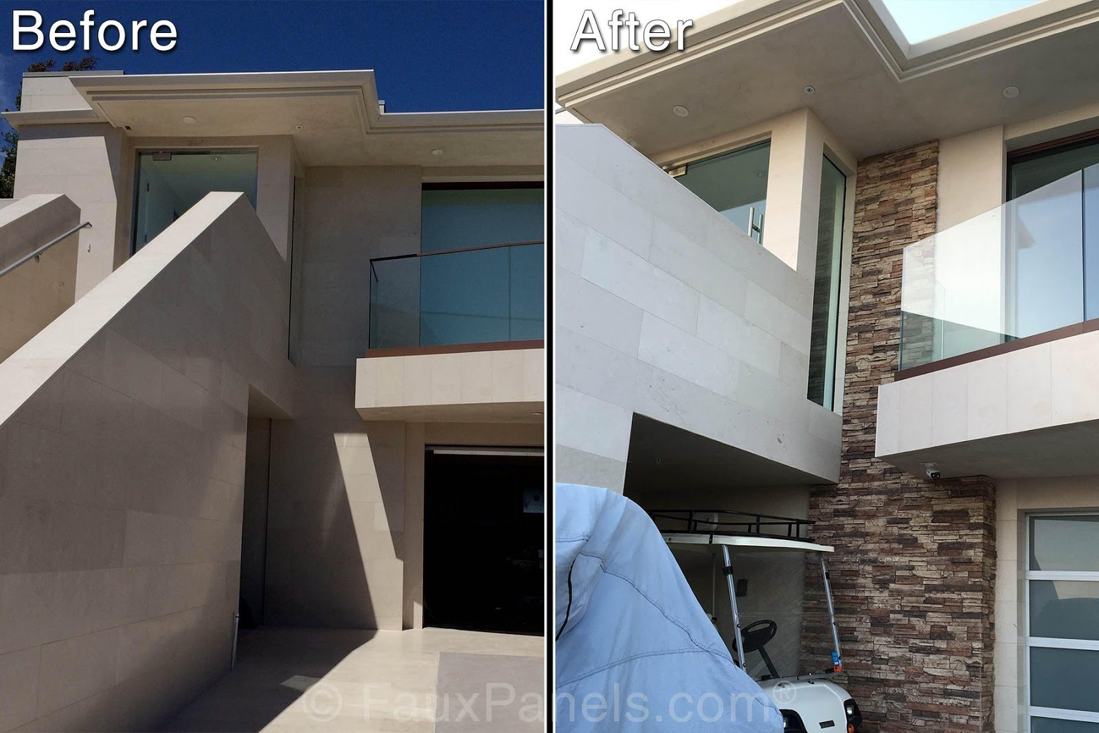 Stone Facade Before : After