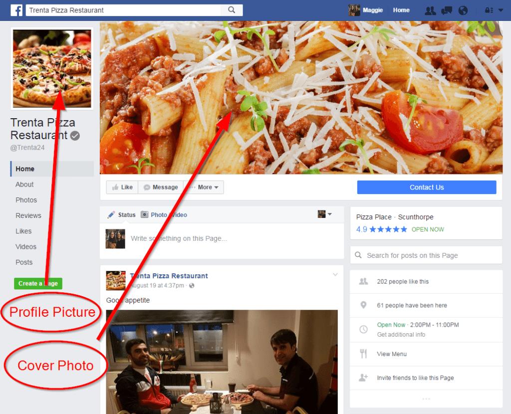 Trenta Pizza Restaurant facebook