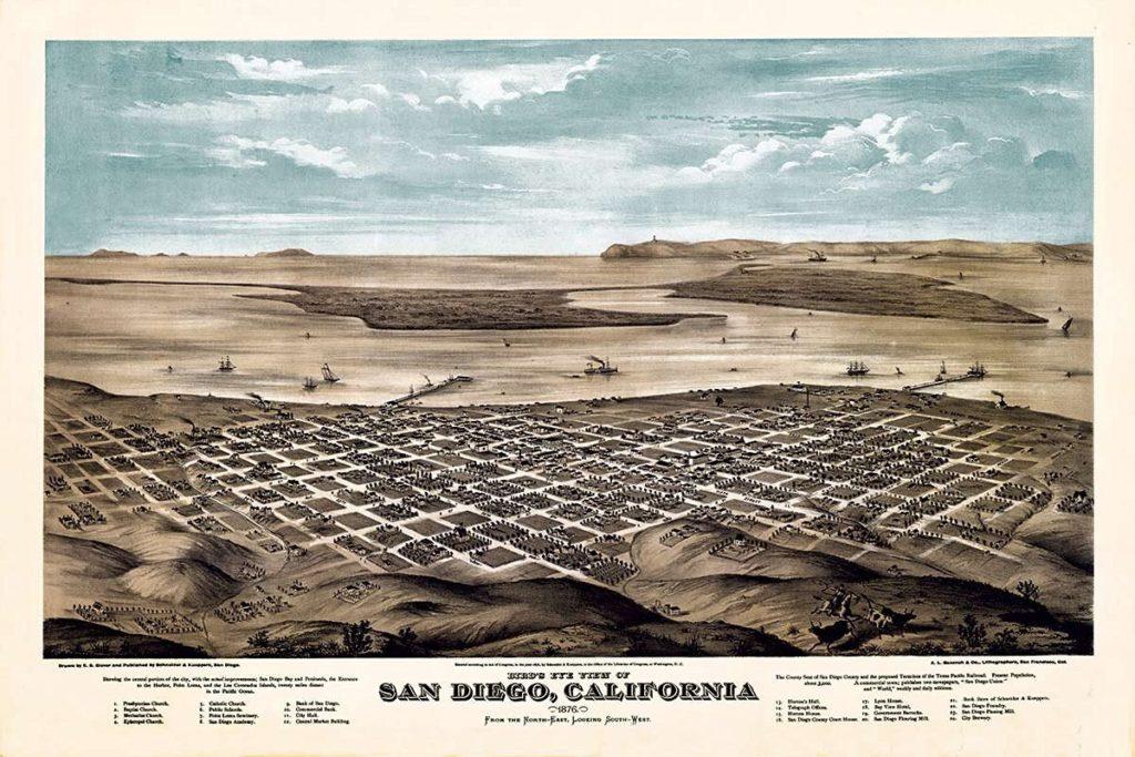 Vintage San Diego Map
