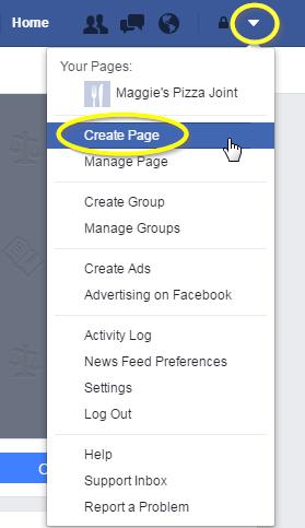 create page facebook