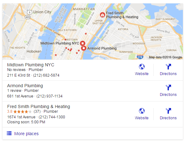 local results 2 google search